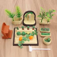 dollhouse outdoor furniture. diy handmade miniature gardening vegetables sets for dollhouse furniture outdoor accessory toys set c