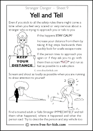 Stranger Danger Coloring Pages And Stranger Danger Coloring Pages