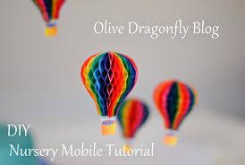 hot air balloon mobile diy tutorial