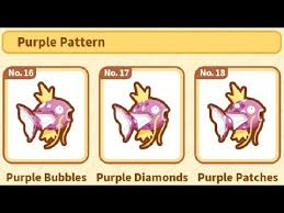 All Magikarp Patterns Awesome All Purple Pattern Magikarp The FINALE[PokemonMagikarp Jump]Episode