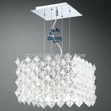 modern square chandelier new design modern led rectangle crystal chandeliers light