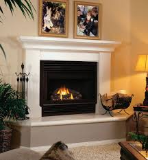 image of glass fireplace mantel
