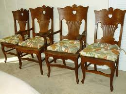 antique quarter sawn oak dining table and chairs. golden oak chairs quarter sawn antiques antique dining table and