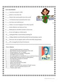 Fact Or Opinion Worksheets. 8th Grade Fact And Opinion Worksheets ...