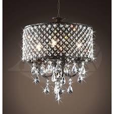 race 4 light round antique bronze brass crystal chandelier pendant 17 wx21