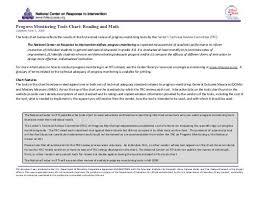 Progress Monitoring Tools Chart Reading And Math Regional