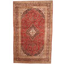 persian hand knotted 1960s semi antique kashan wool rug 9 9 x 15 7 herat oriental rugs