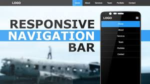 How To Design A Menu Bar In Html Responsive Navigation Bar With Html Css And Javascript Responsive Sidebar Menu For Mobile