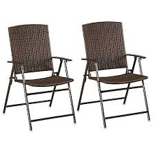 wicker folding chairs. Barrington Wicker Bistro Folding Chairs In Brown (Set Of 2) P