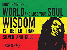 Amazon BOB MARLEY RASTA GAIN WORLD WISDOM SOUL GOLD QUOTE Unique Rasta Wisdom Quotes