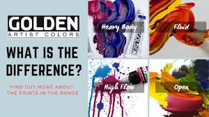Find Out About The Golden Acrylic Range Heavy Body Fluid High Flow And Open