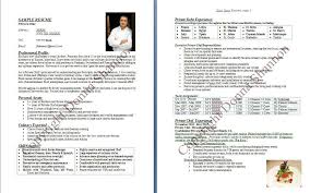 personal chef resume sample