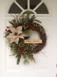 Christmas Wreaths-Holiday Wreath-Rusty Sleigh Bell Wreath-Wooden  Sign-Believe Wreath-Rustic Christmas Decor-Wreath for Door-Designer Wreath  | Pinterest ...