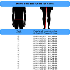 Suit Pants Size Chart Mens Suit Sizing Chart