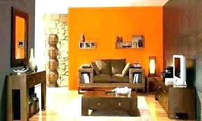 orange wall paint decor popular colour matching on walls bright regarding room