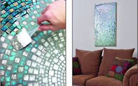 How to Make a Hanging Mosaic Tile Mirror