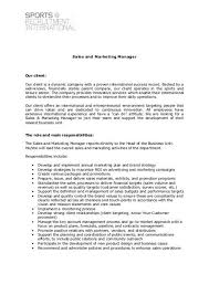 Roles Of A Sales And Marketing Manager Sales And Marketing Manager Sports Recruitment International