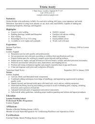 Welder Resume Sample Best Welder Resume Example Throughout Resume