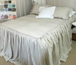 full size of bed ruffled by handcrafted white linen com bedspread ruffle bedding twin size