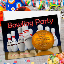 Bowling Party Invitations 10 Personalised Tenpin Bowling Birthday Party Invitations N2