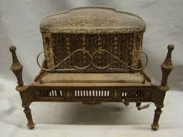 antique 1900 s cast iron ornate gas fireplace insert reznor 250 s