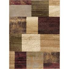 8 x 10 large brown red and green area rug elegance rc willey furniture