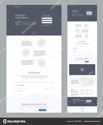 One Product Website Design One Page Website Design Template Business Landing Page