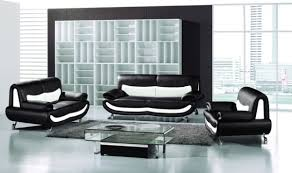 White Leather Living Room Furniture Incredible Decoration Black And White Living Room Set Skillful