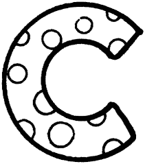 Letter C With Polka Dot Coloring Page Free Printable Coloring Pages