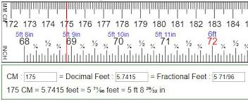Convert Feet To Cm Centimeters To Feet