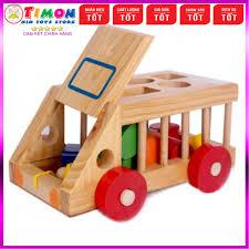 Đồ chơi ô tô thả hình Minh Thành cho bé , đồ chơi giáo dục thông minh phát  triển trí tuệ - TIMONKIDS