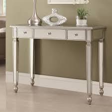 contemporary mirrored furniture. Coaster Furniture 950014 Contemporary Mirrored Sofa Table In Antique Silver I