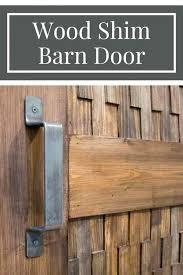 barn door diy a new twist on a barn door the wood shim texture on this