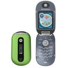 motorola flip phone. motorola pebl u6 light green flip phone t-mobile - very good (cell phones
