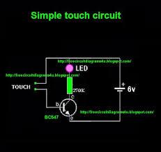 touch sensitive circuit diagram