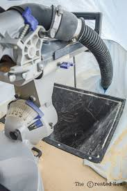mobile miter saw dust collection system diy