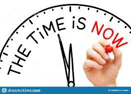 The Time is Now Clock Concept Stock Photo - Image of improve, asap:  164682674