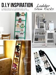 shoe storage ideas - use a ladder to hold shoes, via Scraphacker BEDROOM