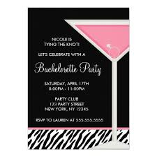 bachelorette party invite martini and diamond ring bachelorette party invitation card