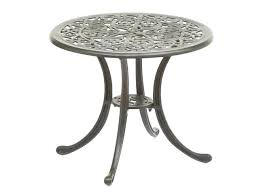 patio side table round metal tables crosley retro