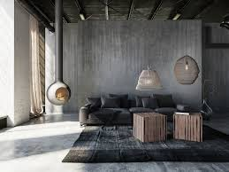 Design Pendelleuchte Mit Lampenschirm Betonfarbig 47cm Moderne