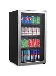 homelabs beverage refrigerator and cooler mini fridge with glass door for soda beer or wine