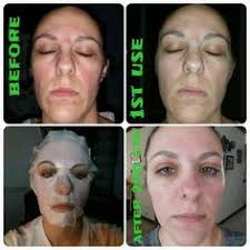 it works exfoliating peel before and after results from using 1 facial wrap from it works a box of 4 wraps is