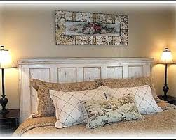 distressed queen headboard white wood