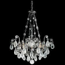schonbek versailles 8 light antique pewter chandelier
