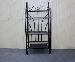 wrought iron bathroom shelf. SK-Wrought Iron Bathroom Racks Multi-layer Floor Retro Storage Rack , Black Wrought Shelf I