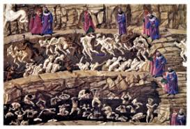 Botticelli Chart Of Hell High Resolution Divine Comedy Illustrated By Botticelli Wikipedia