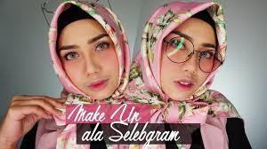 tutorial makeup ala selebgram makeup natural dengan blush on merona inivindy