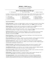 Sample Hr Manager Resumes Resume Template Directory