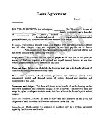 Loan Agreements Between Individuals